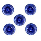 Certified Natural Tanzanite AAA Quality 6 mm Faceted Round 5 pcs lot loose gemstone