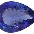 Certified Natural Tanzanite AAA Quality 6x4 mm Faceted Pear 1 pc loose gemstone