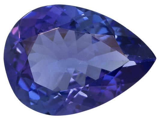 Certified Natural Tanzanite AAA Quality 8x6 mm Faceted Pear 1 pc loose gemstone