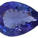 Certified Natural Tanzanite AAA Quality 8x6 mm Faceted Pear 2 pcs pair loose gemstone