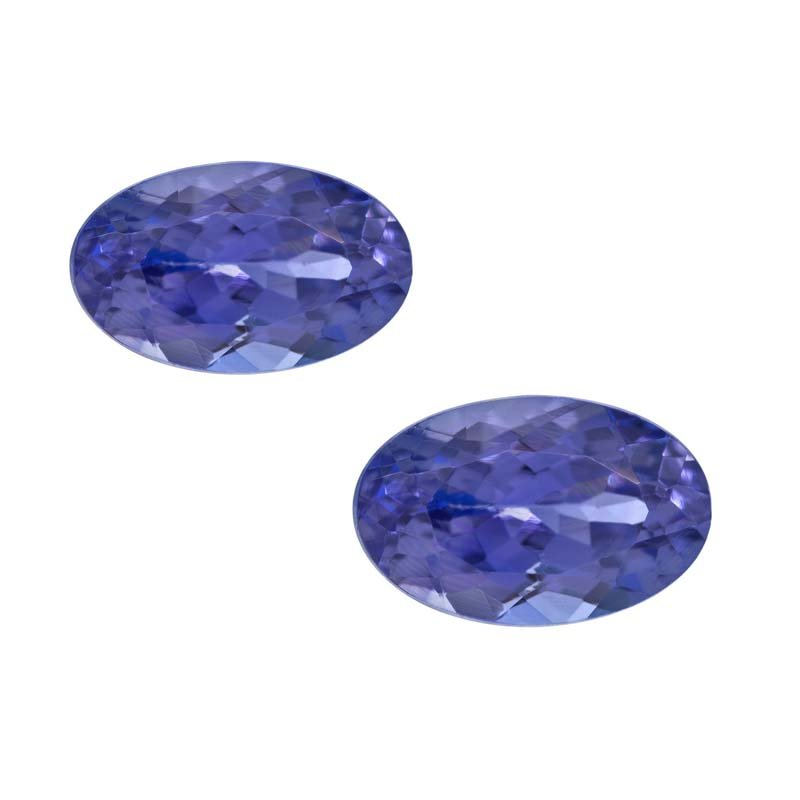 Certified Natural Tanzanite AAA Quality 5x3 mm Faceted Oval 10 pcs lot loose gemstone