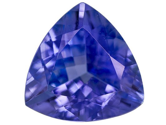 Certified Natural Tanzanite AAA Quality 4.5 mm Faceted Trillion 1 pc loose gemstone