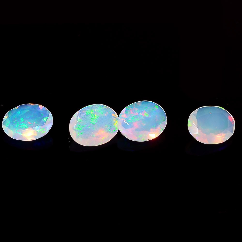 Certified Natural Ethiopian Opal AAA Quality 7x9 mm Faceted Oval 1 pc loose gemstone