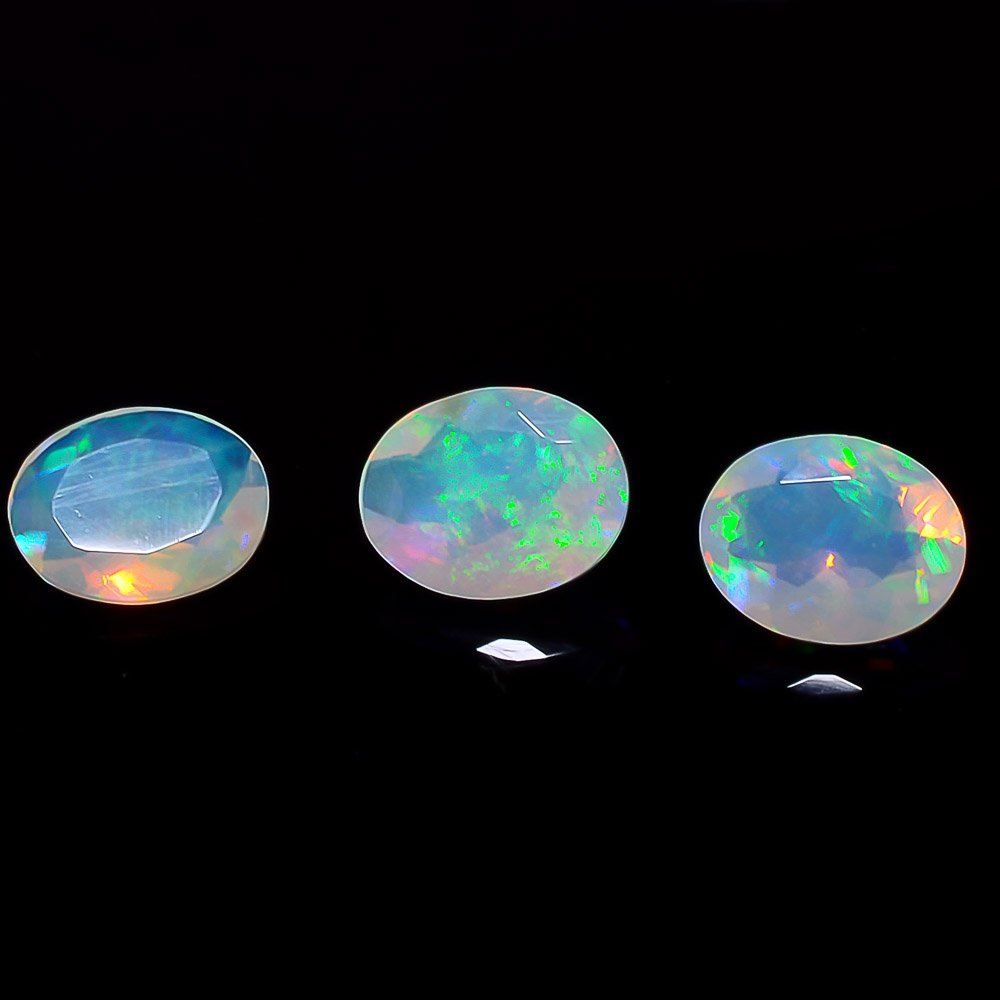 Certified Natural Ethiopian Opal AAA Quality 10x12 mm Faceted Oval Pair loose gemstone