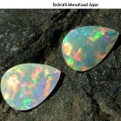 Certified Natural Ethiopian Opal AAA Quality 4x5 mm Faceted Pear Pair loose gemstone