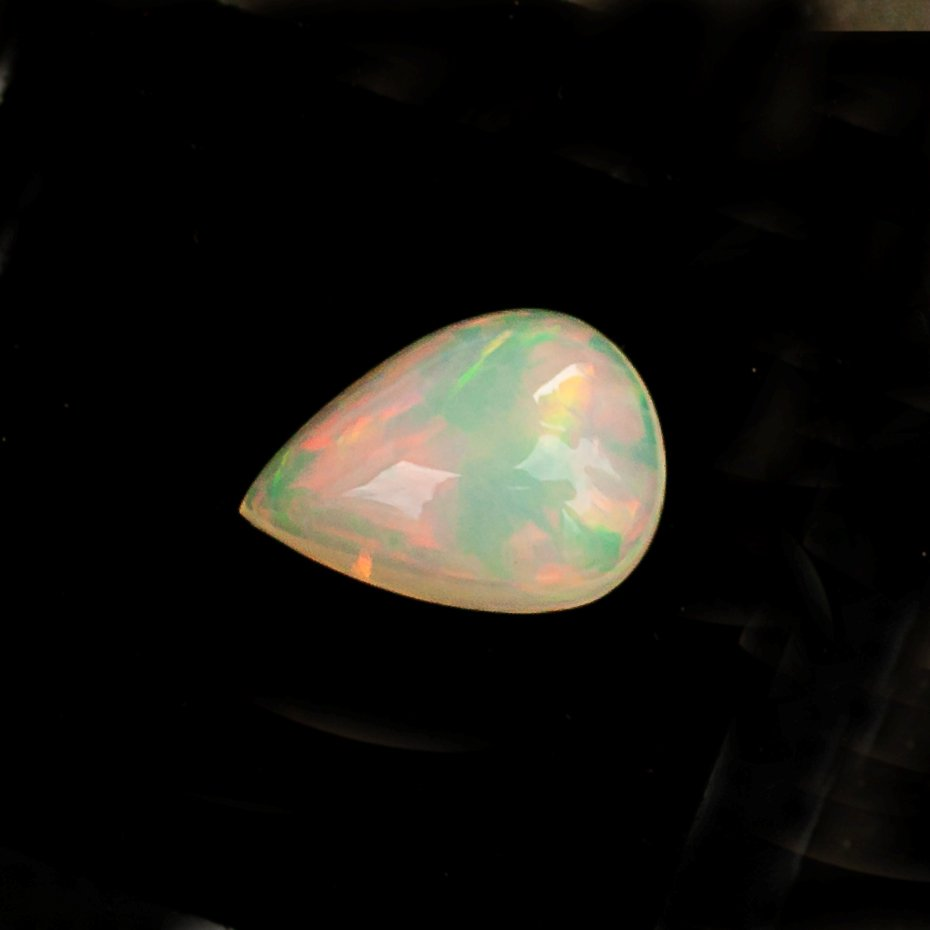 Certified Natural Ethiopian Opal AAA Quality 6x8  mm Faceted Pear Pair loose gemstone