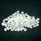 Heart And Arrow Cut White Cubic Zircon AAA Quality 2.5 mm Faceted Round 500 pcs Lot loose gemstone