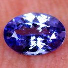 Graceful 0.60 Ct Oval Shape Natural Tanzanite Violet Blue Free Certified HG 9367