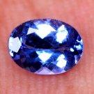 Tempting ! Natural Tanzanite Violet Blue 0.90 Ct Oval Shape Certified HG 9030