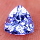 Dazzling Trillion Shape Natural Tanzanite Violet Blue 0.79 Ct Certified HG 9025