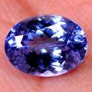 Natural Graceful Violet Blue Tanzanite Oval Shape 1.62 Ct Free Certified HG 8998