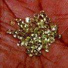 85 Pc 5.02 Ct Natural Charming Peridot Round Cut Washington Apple Green HG 9247