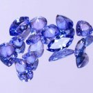 12 Pieces Natural Violet Blue Tanzanite 5.25 Ct Mix Shape Lot Certified HG 9216