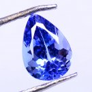 Natural Tanzanite Tempting Violet Blue 1.30 Ct Pear Shape With Certified HG 9103