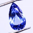 Pretty Pendent Natural Tanzanite Violet Blue 1.50Ct Pear Shape Certified HG 9099