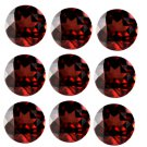 Certified Natural Garnet AAA Quality 7 mm Faceted Round 50 pcs lot loose gemstone