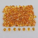 Natural Citrine VS Quality 3mm Faceted Round 200 Pieces Lot Loose Gemstone