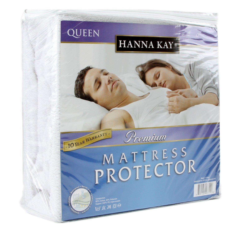 Hanna Kay Premium 100% Waterproof Mattresses Protector -10 Year Warranty Queens Size
