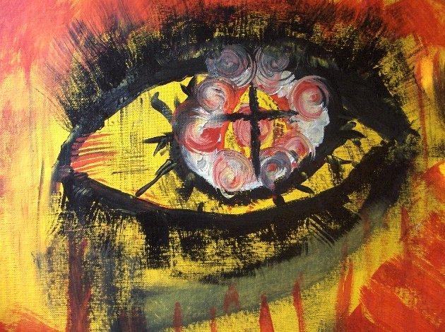 """Cross EYED"" 12 x 16 By Zach Berkowitz"