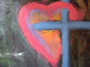 """""""Cross heart"""" 12 x 16 by Zach Berkowitz."""