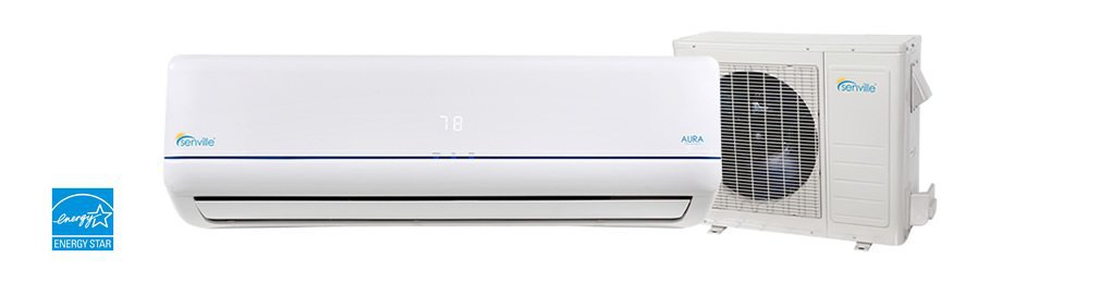 Single 24,000 BTU 2,000 Squ ft. Cooling & Heating Mini Split Ductless Air Conditioner w/Remote
