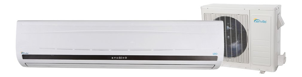 Single 24,000 BTU LETO Series Cooling & Heating Mini Split Ductless Air Conditioner w/Remote