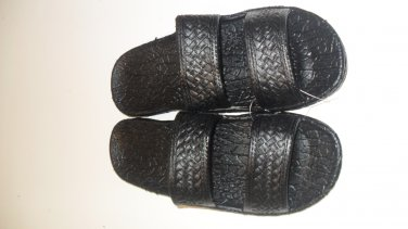 Pali Hawaii Sandals PH405 SIZE 7 BLACK 1 Pair