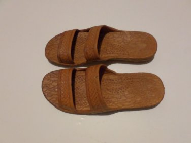 Pali Hawaii Sandals PH405 SIZE 10 DARK BROWN 1 Pair