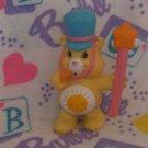 Vintage Kenner CARE BEAR FUNSHINE Mini Figure - Band Parade Leader