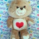 "Vintage Kenner CARE BEAR Tenderheart Brown 13"" Plush - 1983"