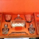 Early American Prescut 11 piece table service set