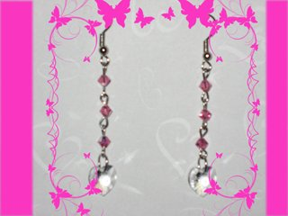 Swarovski pink earrings