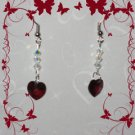 Swarovski garnet earrings