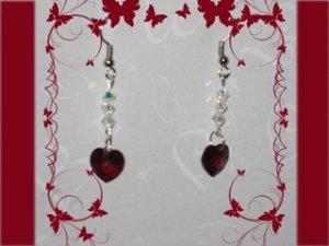Swarovski garnet earrings