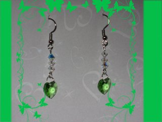 Swarovski peridot earrings