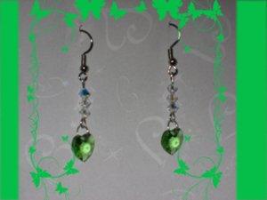Swarovski peridot earrings