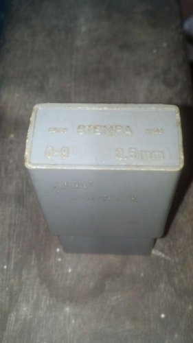 stempa metal stamp numbers  0-9 punch swiss excellent 2.5mm