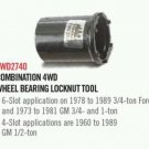 Mac 2740 fwd 4wd 4x4 3/4 ton  gmc chevy hub tool