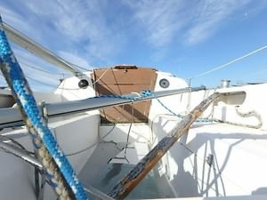 Catalina 22  hatch boards deck boom and other miscellaneous boat being scrapped