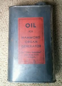 VINTAGE OLD HAMMOND ORGAN CO GENERATOR OIL CAN NICE 40's 50's