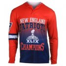 New England Patriots Super Bowl XLIX Champions KLEW Performance Hood Shirt