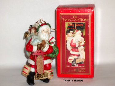 Vintage 1988 Enesco Santa Ornament - New Old Stock