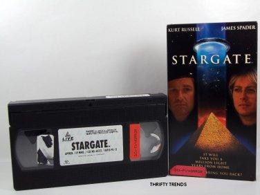 STARGATE with Kurt Russell & James Spade (VHS) VG