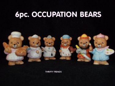 6pc. Career Bears Collection by HOMCO