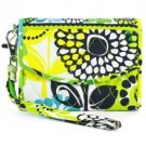 Vera Bradley Super Smart Wristlet smartphone wallet ID coin case Lime's Up  NWT  reader case