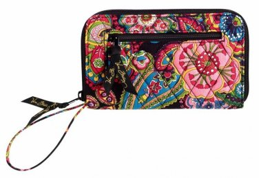 Vera Bradley Zip Around Wallet wristlet clutch Symphony in Hue � organizer NWT