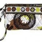 Vera Bradley Wristlet Cocoa Moss  new gusseted style tech case NWT retired