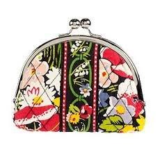 Vera Bradley Double Kiss coin Poppy Fields NWT Retired small purse lipstick case