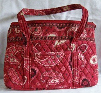 Vera Bradley Mesa Red Betsy purse shoulder bag tablet e-reader tote NWT Retired