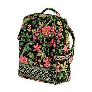 Vera Bradley Large Backpack in Botanica  NWT Retired  overnight laptop weekend carryon